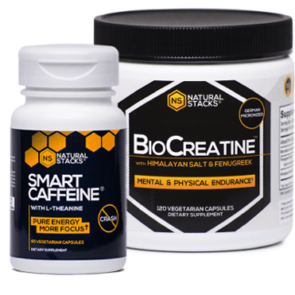BioCreatine + Smart Caffeine, 2-pack