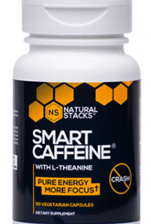 Smart Caffeine with L-Theanine, 60 kapslar - Natural Stacks