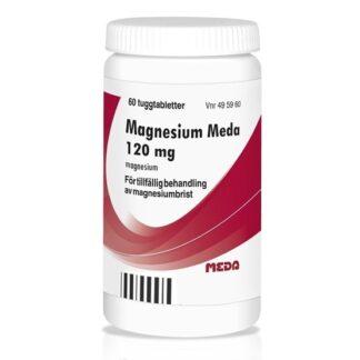 Övrigt Magnesium Meda, tuggtablett 120 mg 60 st