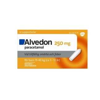 Alvedon Suppositorium 250 mg 10 st