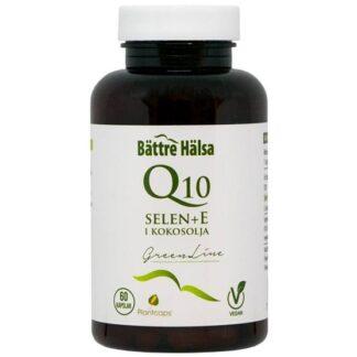 Bättre Hälsa Q10 200 mg + Selen + E 60 kapslar