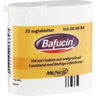 Bafucin, Sugtablett 25 st