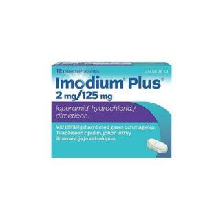 Imodium Plus tablett 2 mg/125 mg, 12 st