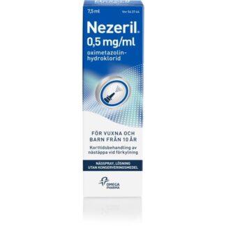 Nezeril Nässpray, Lösning 0,5 mg/ml 7,5 ml