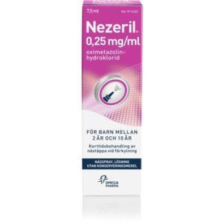 Nezeril, nässpray, lösning 0,25 mg/ml 7,5 ml