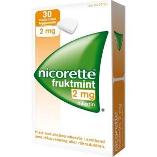 Nicorette Fruktmint, medicinskt tuggummi 2 mg 30 st