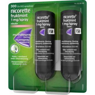 Nicorette Fruktmint munhålespray 1 mg/spray 2 x 150 st