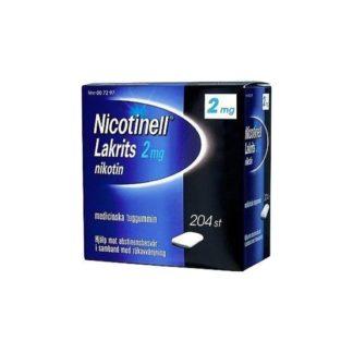 Nicotinell Lakrits, medicinskt tuggummi 2 mg 204 st