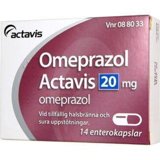 Omeprazol Actavis, enterokapsel, hård 20 mg 14 st