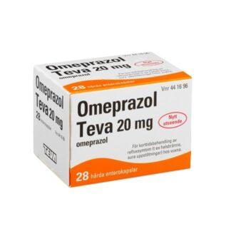Omeprazol Teva, enterokapsel, hård 20 mg 28 st