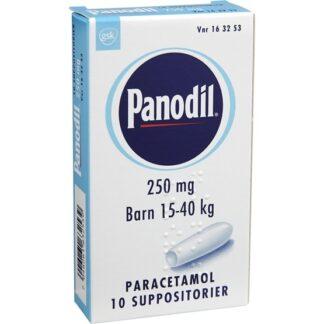 Panodil, suppositorium 250 mg 10 st