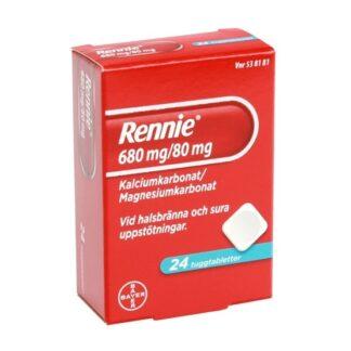 Rennie, tuggtablett 680 mg/80 mg 24 st