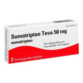 Sumatriptan Teva, Filmdragerad tablett 50 mg 2 st