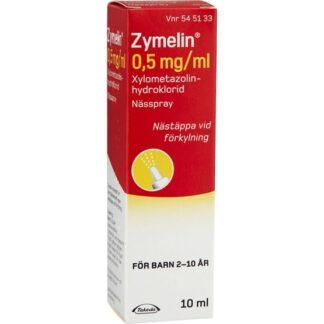 Zymelin, nässpray, lösning 0,5 mg/ml 10 ml