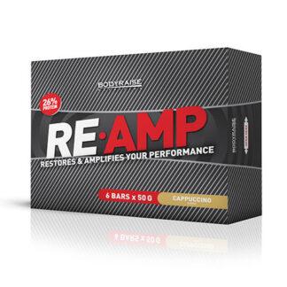 6 x RE-AMP Protein Bar 50 g Flavor: Cappuccino