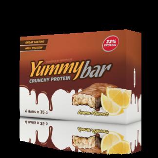 6 x Yummy Bar Crunchy Protein 35 g Flavor: Banan