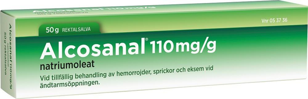 Alcosanal rektalsalva 110 mg/g 50 g