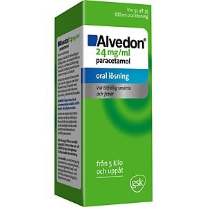 Alvedon Mixtur 24mg/ml 100ml