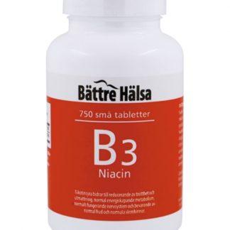 B3 Niacin 10 mg 750 tabletter