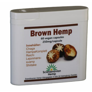 Brown Hemp, 60 kapslar, 1 mg Cannabinoider per kapsel