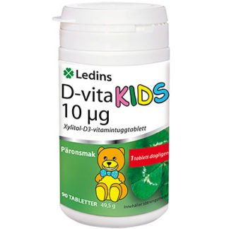 D-vita Ledin 10μg KIDS 90 tuggtabletter