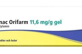 Diclofenac Orifarm, gel 11,6 mg/g 50 gr