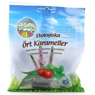 Eco Vital ört hals karameller 75g EKO