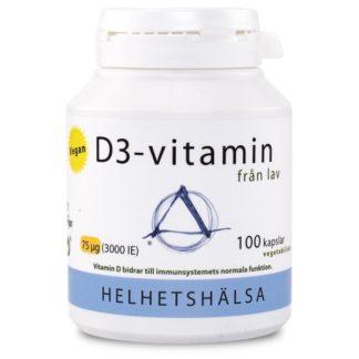Helhetshälsa D3-vitamin Vegan 100 kaps