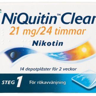 NiQuitin Clear depotplåster 21 mg 14 st