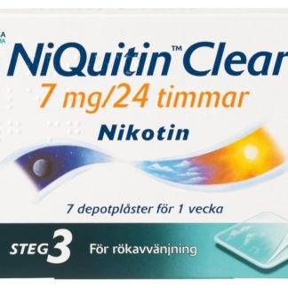 NiQuitin Clear depotplåster 7 mg 7 st