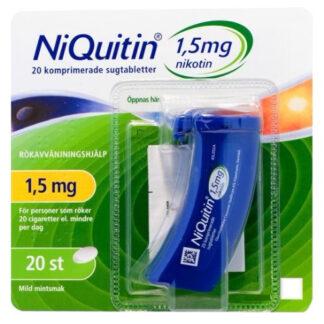 NiQuitin, komprimerad sugtablett 1,5 mg 20 st