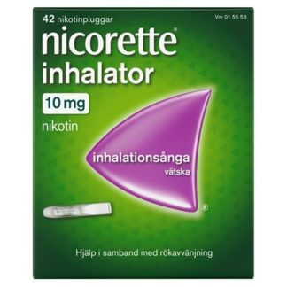 Nicorette Inhalator inhalationsånga vätska 10 mg 42 st