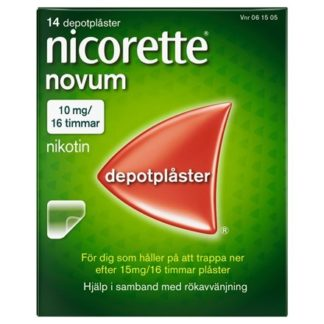 Nicorette Novum depotplåster 10 mg/16 timmar 14 st