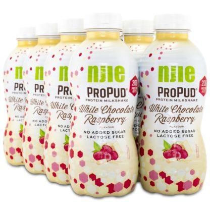 Njie ProPud Protein Milkshake White Chocolate Rasberry 8-pack