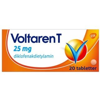 Voltaren T dragerad tablett 25 mg 20 st