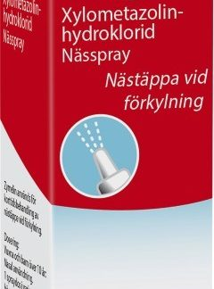 Zymelin Mentol nässpray, lösning 1 mg/ml 10 ml