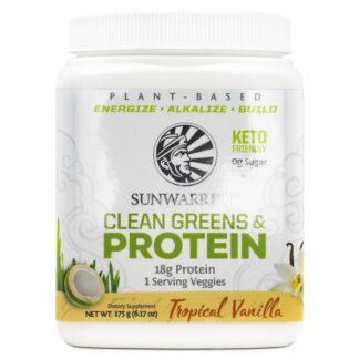 Sunwarrior Clean Greens & Protein Vanilj 175 g