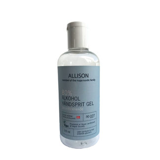 Allison Håndsprit Gel 80% - 225 ml