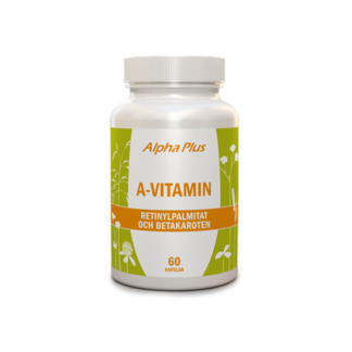 Alpha Plus A-vitamin 60 kapslar
