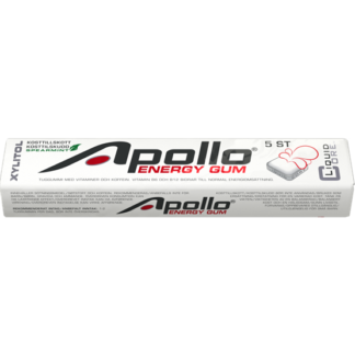 Apollo Energy Gum Tuggummi 5 bitar