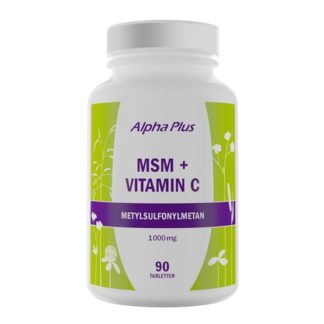 Alpha Plus MSM + Vitamin C 90 tabletter