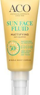 ACO Sun Face Fluid SPF 50+ Solskydd, 40 ml