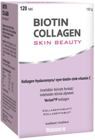 Biotin Collagen Skin Beauty 120 tabletter